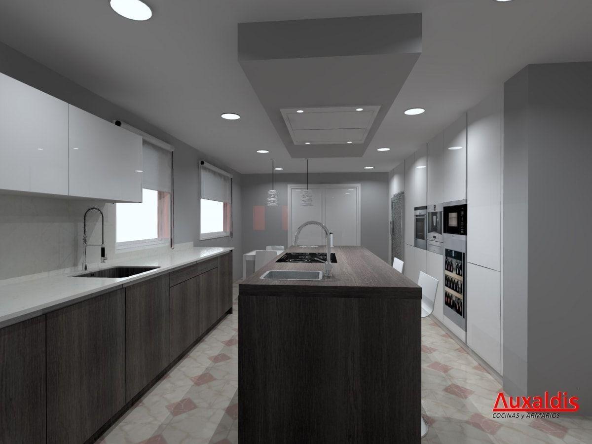 Auxaldis estudio taller de dise o de armarios y cocinas for Software para cocinas